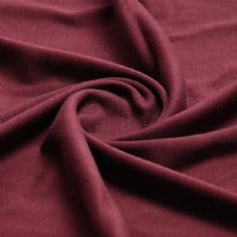 Wine - Plain 100% Cotton Interlock Double Jersey